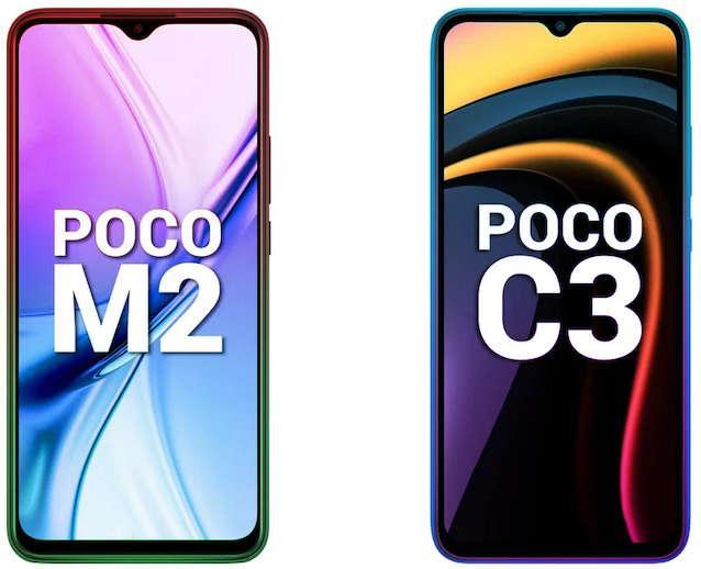 Poco M2, Poco C3 Price Discount in India (Now Price is Rs 9,999 & 8,499)