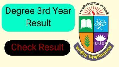 degree 3rd year result