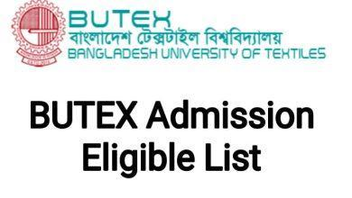 BUTEX Admission Eligible List